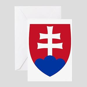 Slovak-COA-clock Greeting Card