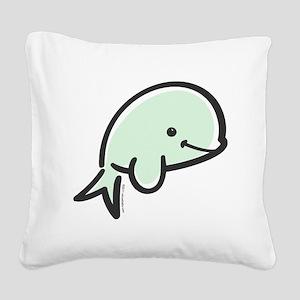 beluga Square Canvas Pillow
