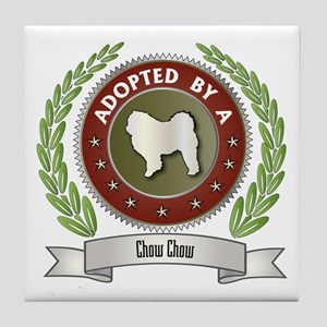 Chow Adopted Tile Coaster