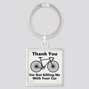 Thank You - Bicycle Square Keychain