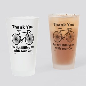 Thank You - Bicycle Drinking Glass