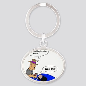 whome2 Oval Keychain