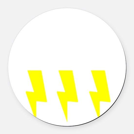 thunderandlightning Round Car Magnet