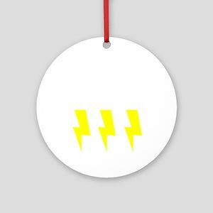 thunderandlightning Round Ornament