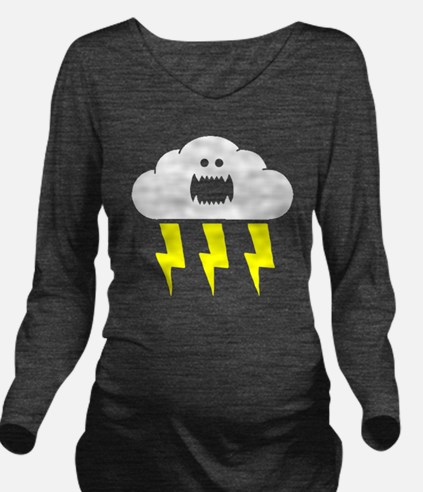 thunderandlightning Long Sleeve Maternity T-Shirt