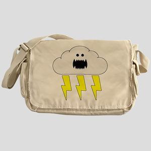 thunderandlightningwhite Messenger Bag