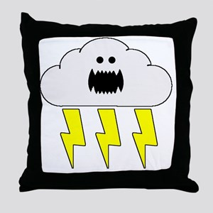 thunderandlightningwhite Throw Pillow