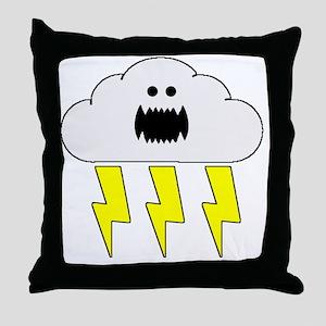 thunderandlightningwhite Throw Pillow