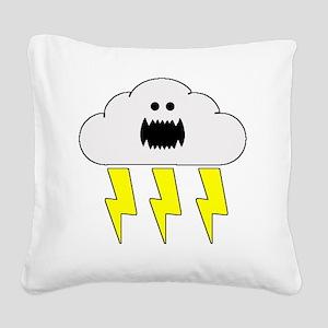 thunderandlightningwhite Square Canvas Pillow