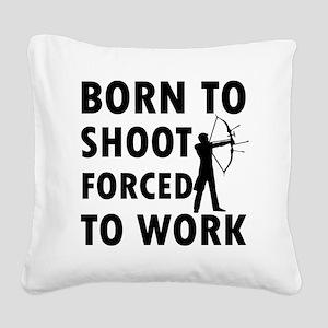 shoot Square Canvas Pillow