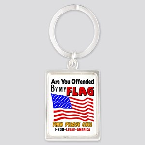 Are You Offended By My Flag Portrait Keychain