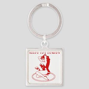 Devil Doll Square Keychain