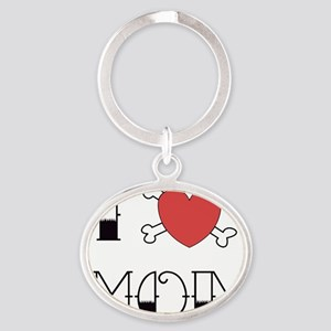 IheartMom Oval Keychain