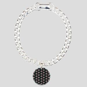 Artichoke Pattern on Black. Bracelet