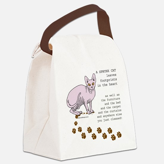 footprints-sphynx copy.gif Canvas Lunch Bag
