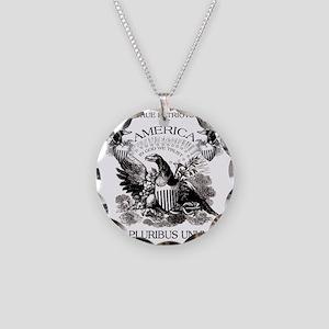 E Pluribus Unum Necklace Circle Charm