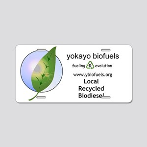 horizontal logo.2 Aluminum License Plate