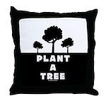 Plant Tree Throw Pillow