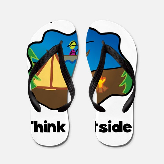 Think Outside Black Flip Flops