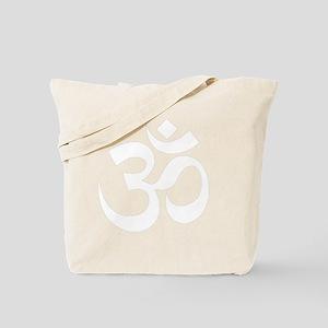 Yoga Om White Tote Bag