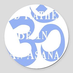 Rather Be Asana White Round Car Magnet