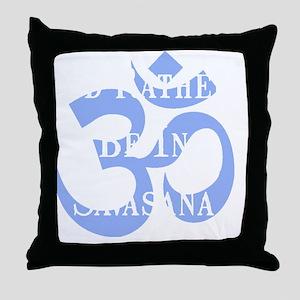 Rather Be Savasana White Throw Pillow