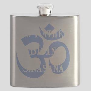 Rather Be Savasana White Flask