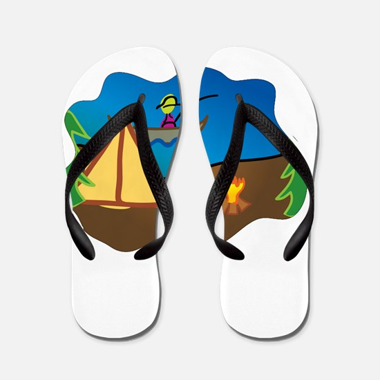 Think Outside White Flip Flops