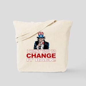 dont trust obama(blk) Tote Bag