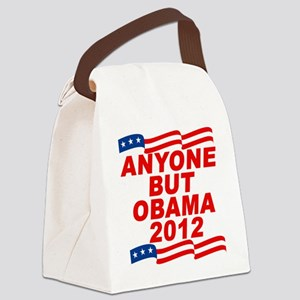 anyone but obama(blk) Canvas Lunch Bag