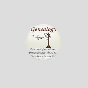 GENEALOGYanacount2 Mini Button