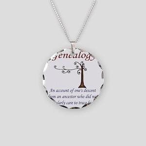 GENEALOGYanacount2 Necklace Circle Charm