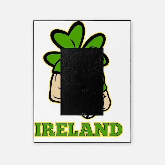Irish leprechaun rugby player Irelan Picture Frame