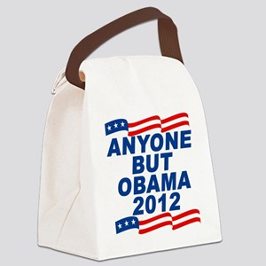 anyone but obama Canvas Lunch Bag