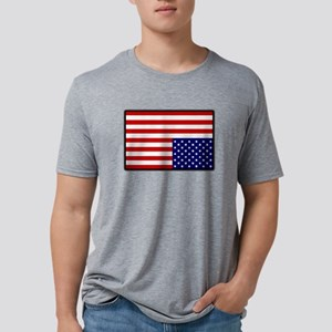 DUMP TRUMP SAVE AMERICA DISTRESS FLAG Mens Tri-ble