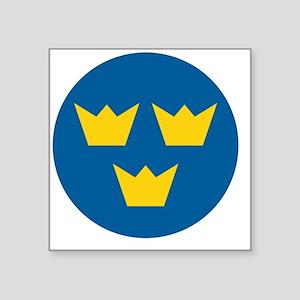 "10x10-Flygvapnet_roundel_19 Square Sticker 3"" x 3"""