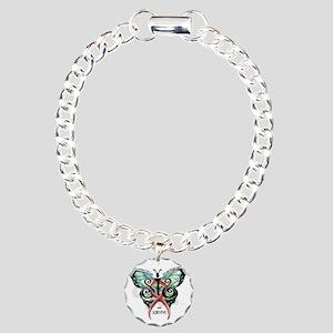 SIS Butterfly w motto Charm Bracelet, One Charm