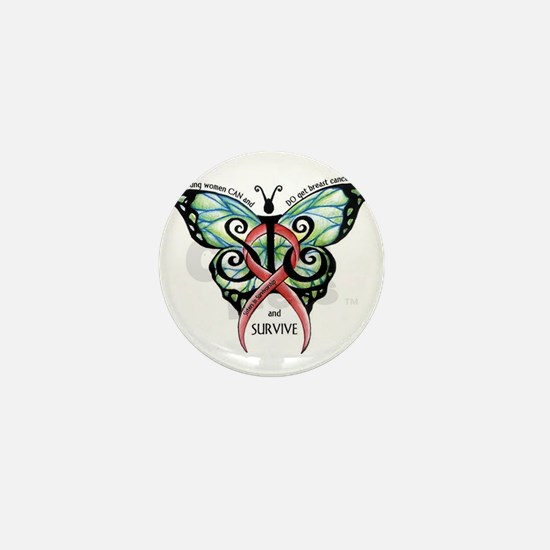 SIS Butterfly w motto Mini Button
