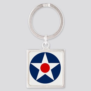 United States Army Air Corp Rounde Square Keychain