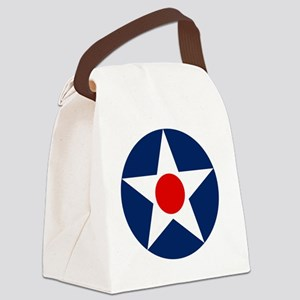 United States Army Air Corp Round Canvas Lunch Bag
