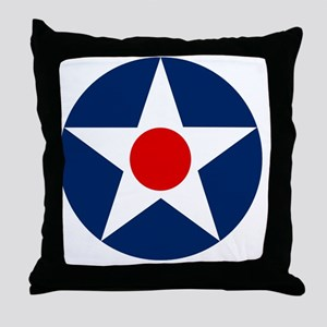 United States Army Air Corp Roundel 1 Throw Pillow