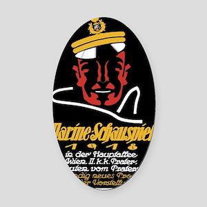Austrian Navy Show WWI War Poster Oval Car Magnet