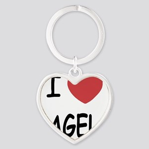 BAGELS Heart Keychain