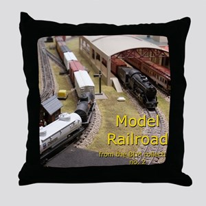 Cal3_COVER_Model_Trains_0100 Throw Pillow