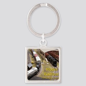 Cal3_COVER_Model_Trains_0100 Square Keychain