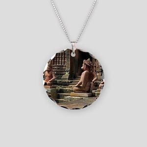 Banteay Srei temple guardian Necklace Circle Charm