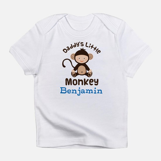 Daddys Little Monkey personalized Infant T-Shirt
