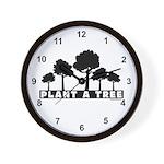 Plant Tree Wall Clock