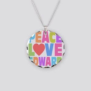 Peace Heart Ed Necklace Circle Charm
