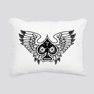 spade-wings-T Rectangular Canvas Pillow